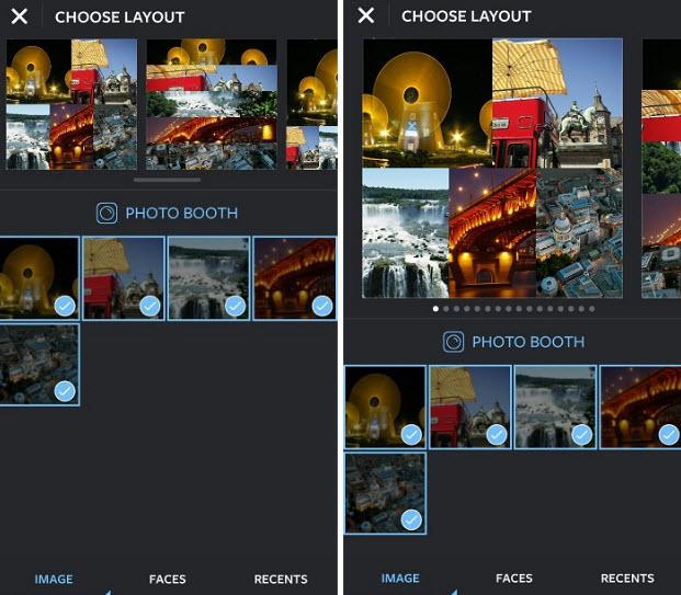 menggabungkan beberapa foto Instagram menjadi satu gambar / membuat collage