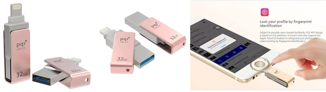 Pqi iConnect Mini OTG Flashdisk Lightning Apple & USB 3.0