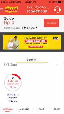 Cara Mendapatkan Kuota Gratis Indosat 500 MB