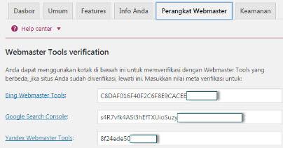 verifikasi webmaster seo yoast