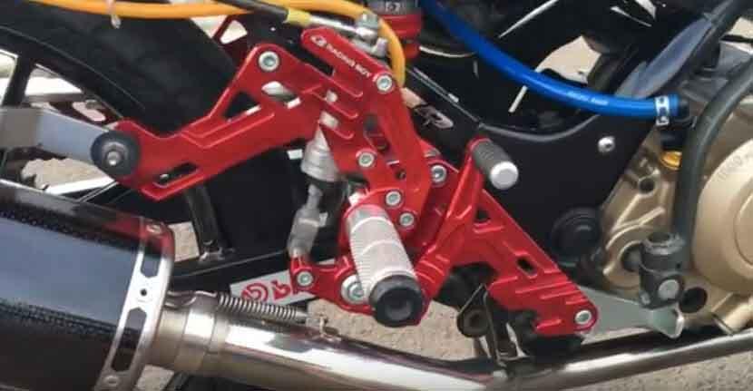 Ini Underbone Lipat Satria FU Bisa Pakai Kick Starter Standard. Kickstarter Engkolan tidak Mentok
