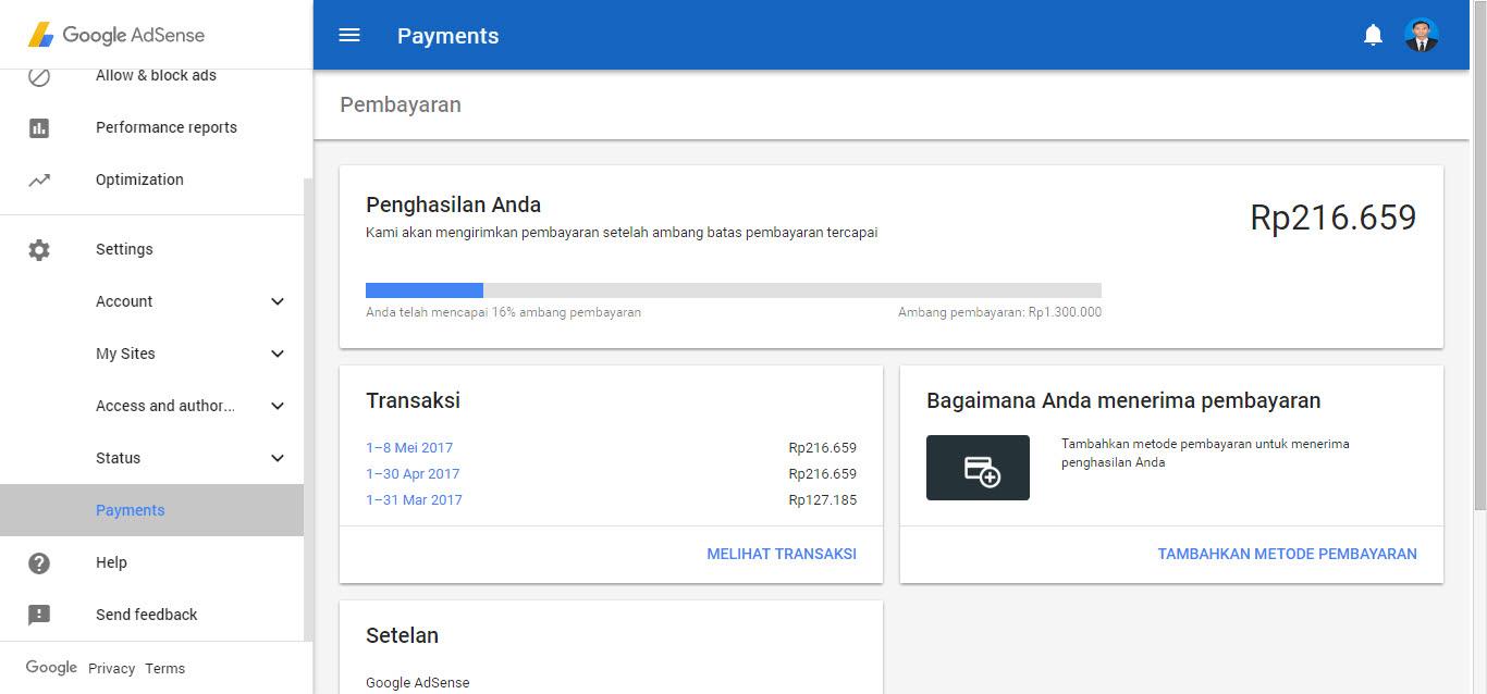 Cara Terbaru Menambahkan Metode Pembayaran AdSense Bank Lokal
