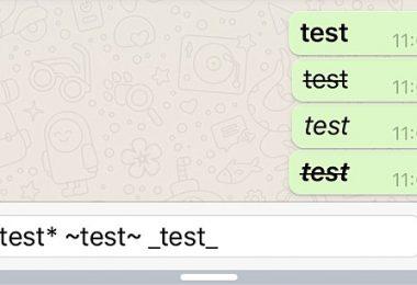 Membuat Tulisan Whatsapp Tebal, Miring dan Dicoret